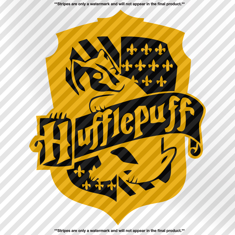 Hufflepuff Crest Harry Potter Decal Decals By Delano