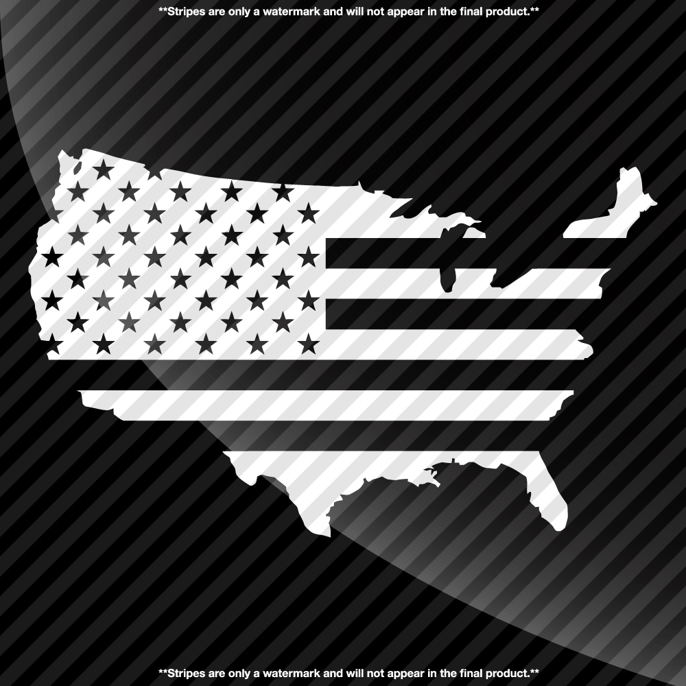 Usa Shaped American Flag Decal Decals By Delano