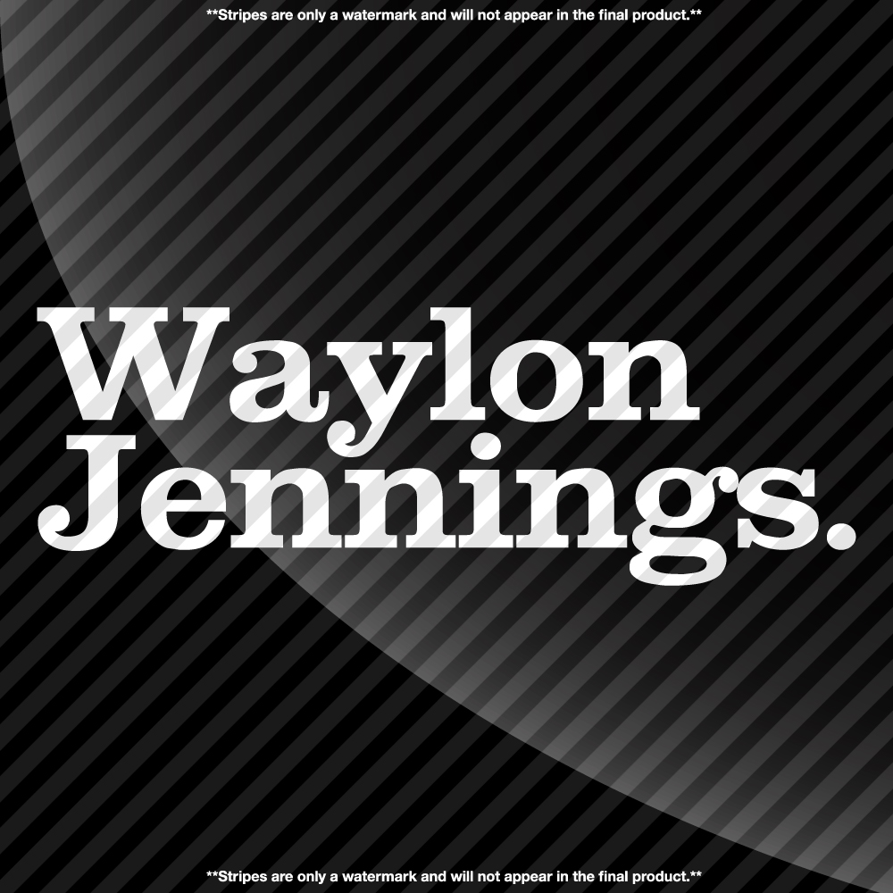Waylon Jennings Period Decal Decals By Delano