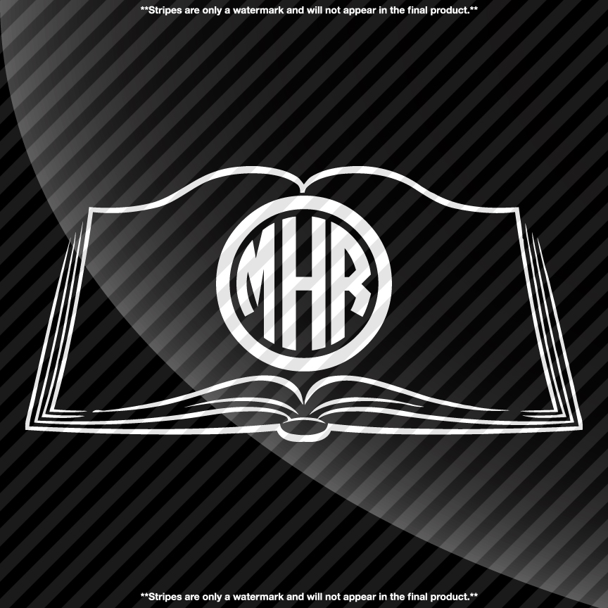 Book Monogram Decal Decals By Delano